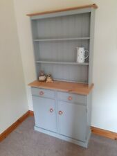 NEW SOLID PINE NARROW WELSH DRESSER NOT SHABBY CHIC FARROW & BALL LAMPROOM GREY.