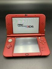 NICE! Nintendo New 3DS XL Red Video Game Console with SD Card Stylus and Charger
