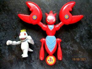 Rare Pokemon Machop Figure - Nintendo Jakks posing neck arms & legs & Scizor