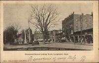 Leominster MA Monument Square c1910 Postcard - Rose & Nugent