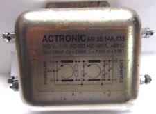 Filtro di rete Noise Filter ACTRONIC AR 35.14A.135 250 / 125 V 50-400 Hz 14A