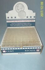 NEW--HE Harris Round Coin Tubes for Nickels-100 per Box