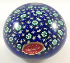 "Vintage Murano Millefiori Paperweight - Large        (3 1/2"" X 2 1/4"")"