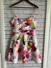 Lipsy London UK16 Multicoloured floral A Line dress