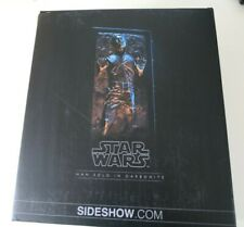 Sideshow Hot Toys Star Wars Empire Strikes Back Han Solo in Carbonite 1/6 Figure
