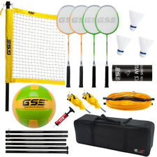 Professional Portable Badminton & Volleyball Combo Set