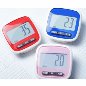 LCD Belt Clip Digital Pedometer Multi-Function Walking Steps Count Km Distance