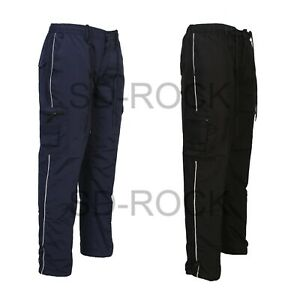 Mens Elasticated Cargo Combat Utility lightweight Stripe Trousers Bottoms Pants