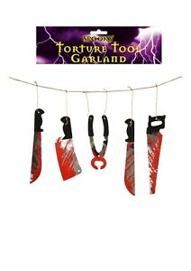 HALLOWEEN SCARY TORTURE TOOL Garland Assorted Fancy Dress Party Accesories