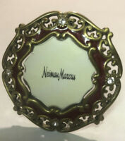 """Jay Strongwater Round jeweled and enameled 2"""" picture frame"""