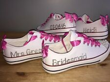 Chief Bridesmaid Flower Girl Maid Of Honour Customised Bling Trainer Shoe