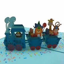 Birthday Train 3D pop up card