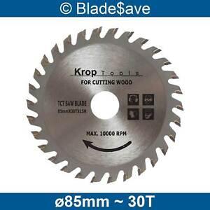 Bosch Circular Saw Blade Fine Cut TCT 85mm x 15mm x 30T by KROP (2 Pack)