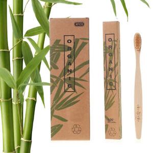 4 PCS Bamboo Toothbrush 100% Natural Organic Soft Bristl Eco-Friendly Travel Set