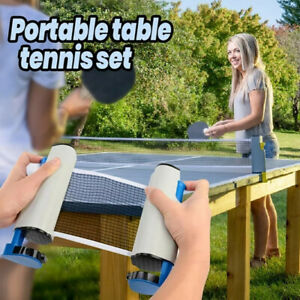 Indoor Games Retractable Table Tennis Ping-Pong Portable Net Kit Replacement Set