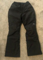 "LANDS' END KIDS ""Grow-A-Longs"" Youth Girls Sz: 16S Black Snow Ski Pants"