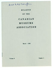 March 1956 Bulletin of the Canadian Museums Association Journal/Magazine