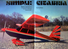 SIMPLE CITABRIA RC PLAN + CONSTRUCTION ARTICLE for Ace Foam Wing Model Airplane