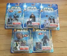 Lot of 5 Star Wars Attack the Clones Acton figures - Jango Fett, Yoda hasbro NEW