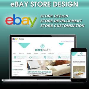 eBay Store Template Shop Design Custom Responsive Listing Https Mobile HTML 2021
