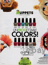 The Muppets 1-page clipping 2012 ad for O.P.I nail color
