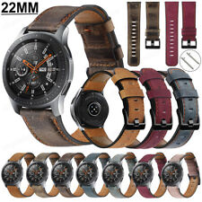 For Samsung Galaxy Watch 46mm Gear S3 Genuine Leather Strap Wrist Band Bracelet