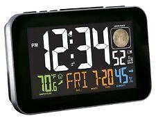 C85183 La Crosse Technology Multi-Color Atomic Alarm Clock USB Port Refurbished