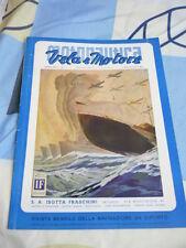 MOTONAUTICA VELA E MOTORE N. 1 GENNAIO 1941