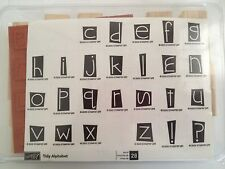 Stampin' Up Set of 28 Alphabet Stamps NEW