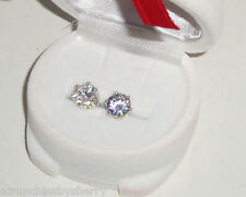 Swarovski Earrings Snowman Gift Box Cubic Zirconia 2 Carat Silver Plate New