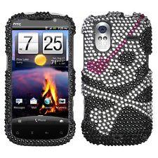 Skull Crystal Diamond BLING Hard Snap on Phone Case for T-Mobile HTC Amaze 4G