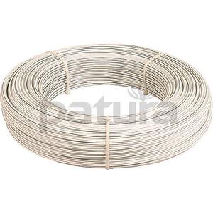 Patura Hippo Wire, ummantelter Stahldraht 2,5 mm, weiß, ideal für Pferde Zäune