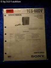 Sony Service Manual TCS 60DV Cassette Corder (#4067)