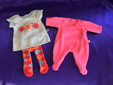 American Girl Bitty Baby Twins Doll Argyle Dress& Stockings Outfit+Pink Sleeper