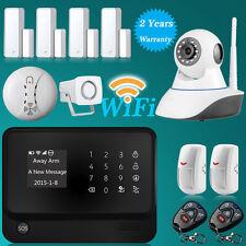 "2016 2.4"" LCD WiFi GSM GPRS Home House Burglar Fire Alarm System+720P IP Camera"