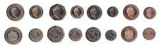 Gibraltar _ set 8 coins 1 2 5 10 20 50 Pence 1 2 Pounds 2017 - 2018 comm. UNC