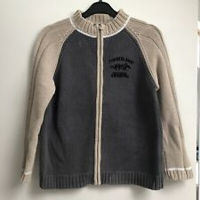Timberland boys Cardigan, Age 10, Grey Cotton Knit, Zip Fasting Condition