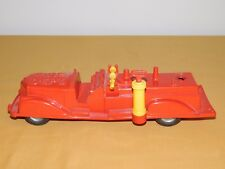 "VINTAGE OLD TOY 11"" RENWAL PLASTIC FIRE DEPT ENGINE TRUCK NO. 113"