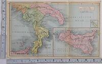 Ancien & Classique Carte Italiae Pars Meridionalis Sicilia Lucania Apulia