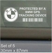 5 x BMW GPS Tracking Device Security Stickers-3 4 5 6 7 Series Car Alarm Tracker
