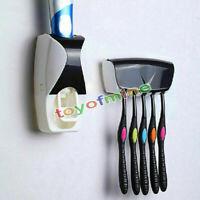 Automatische Zahnpastaspender Zahnbürstenhalter Set Wandhalterung Ständer Famili
