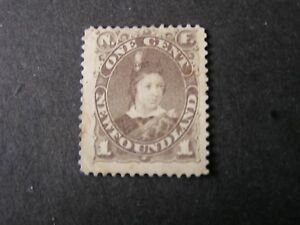 NEWFOUNDLAND, SCOTT # 43, 1c.VALUE BROWN PRINCE OF WALES 1896 ISSUE MH