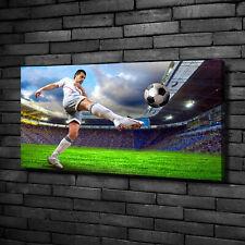 Leinwandbild Kunst-Druck 100x50 Bilder Sport Fußballspieler