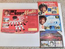 1994 BOB ROSS Master Oil Paint Set Painting Artist Kit - Unused plus Books!