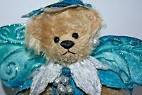 """OOAK Beautiful Mohair Artist Teddy Bear """"Aqua"""" Angel by Martha Burch 10"""""""