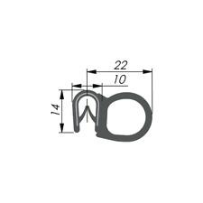 KD-Beschläge 1m Dichtungsprofil Dichtprofil Kantenschutz EPDM PVC  KB1- 4mm