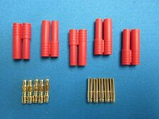 5 Pcs HXT 4MM BULLET CONNECTOR MALE / FEMALE HXT4MM PLUG RC LIPO ESC REDCAT 93A