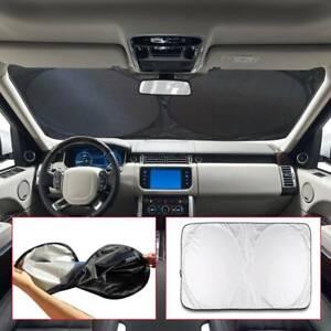 Front Rear Windshield Sun Shade Car Window Shield Cover Folding Visor UV Block