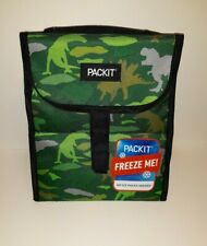 PACKIT Freezable Lunch Bag Green With Dinosaurs New With Tags