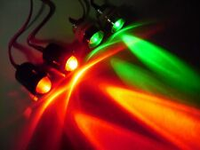 RC 10mm Red and Green LED Headlights Tail Lights/holders Grave Digger Dual color